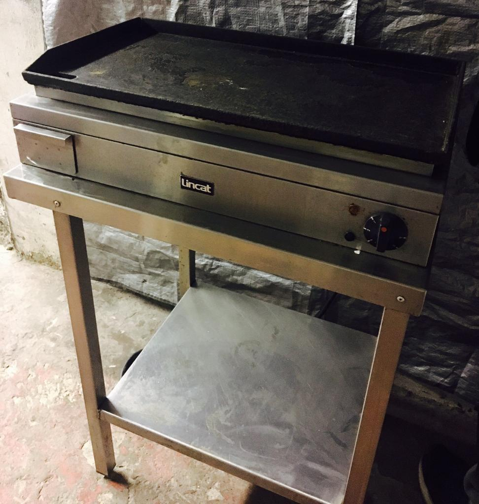 Counter - Top Catering Hot Frying Plate / Burger Plate