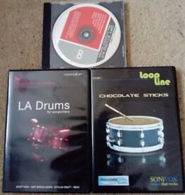 3 Studio Quality Drum Samples & Loops CD's
