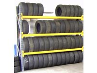 TYRE STORAGE RACK RACKING. HEAVY DUTY-STRONG. BRITISH MADE. 9ft 2in LONG x 8ft HIGH (280cm x 240cm)