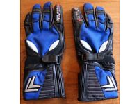Frank Thomas Mens Leather Motorcycle Gloves Medium Size In Good Used Condition