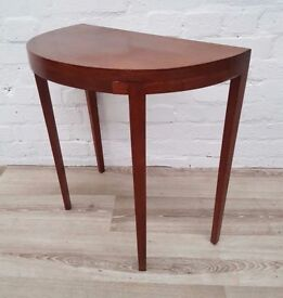 Vintage Demi Lune Table (DELIVERY AVAILABLE FOR THIS ITEM OF FURNITURE)