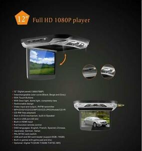 "12"" HD Digital TFT Flipdown Roof Mounted CAR DVD Player with HDMI Input Roof Mount"