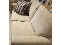 BRAND NEW VENICE STYLE 3-PIECE SUITE, BEIGE IN COLOUR