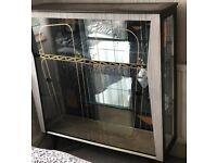 Vintage retro 1950's mid century glass display cabinet