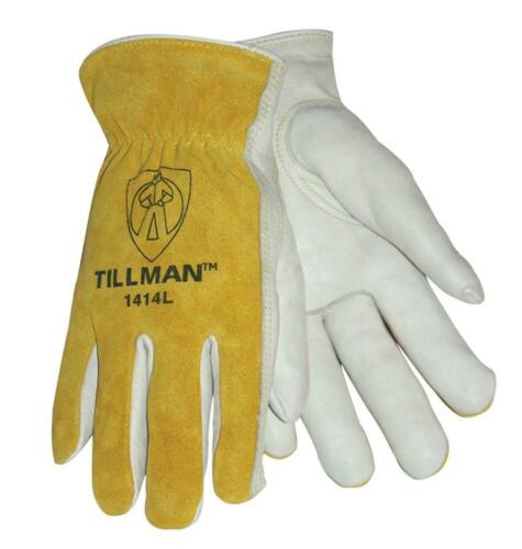Genuine Tillman 1414 Drivers Gloves Top Grain Pearl Cowhide SM MED LG XL Work