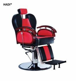 NEW HEAVY DUTY RED&BLACK HADI® BARBER CHAIR BC-24,CASH ON COLLECTION ONLY uk