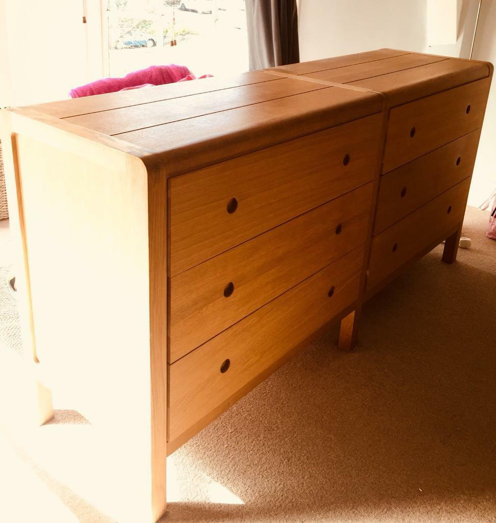 Radius Oak Double Chest Drawers 6 Drawers From Habitat In