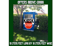 Burger Van Roadside Catering Snacks Shed Hut Trailer on Tiny Freehold Cardiff Land Plot 10ft by 10ft