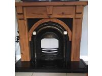 Fire surround with insert