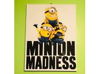 Lovely Large Minions Canvas Picture. 60 x 80cm. Excellent Condition