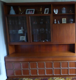 McIntosh Wall unit with built-in drinks cabinet