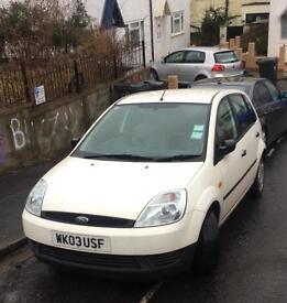 Ford Fiesta Finesse. White 5 door 1.3L Petrol. Good condition. 8 Months MOT