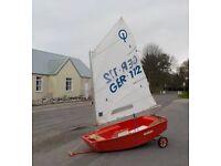GRP Optimist Sailing Dinghy