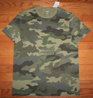 NEW NWT Mens J.Crew J CREW  Tee T-Shirt Camouflage ARMY CAMO $34 100% Cotton *W9