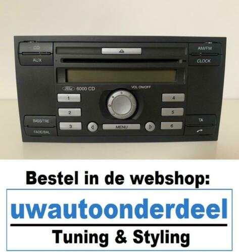 Ford CD6000 CD 6000 radio Focus, Mondeo, S-max, C-max Aux
