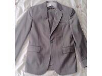 Base Boys, Bentley 7 Suit, Single button, Excellent condition, Size 35, Age 15/16, Charcoal