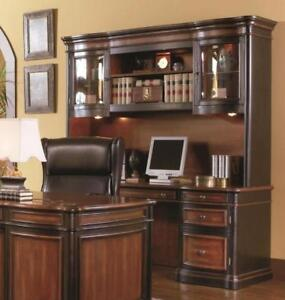 Executive 3 Piece Office furniture Set Credenza Hutch & File Cabinet Two Tone - BRAND NEW - FREE SHIPPING
