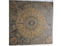 Vintage Zodiac design occasional table for sale.