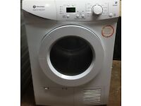 L19 Whiteknight B96M8WR 8kg LCD Sensor Drying Condenser Tumble Dryer 1YEAR WARRANTY FREE DELIVERY