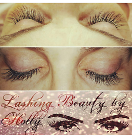 Individual Eyelash Extensions (Russian Volume, Silk or Mink)
