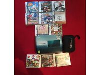 3DS with 3 3DS games, 8 DS games, charger and case