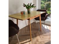 Vintage Dining Table Extending Yellow Formica