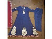 navy anarkali, banarsi edging, matching trouser, dupatta Asian, Pakistani, Indian, wedding, party