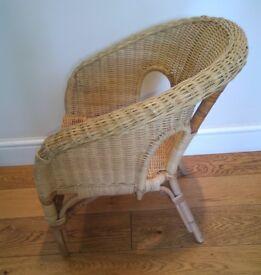 Rattan children's chair