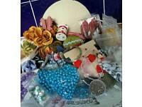 Large mixed craft bundle. Bias, Beads etc