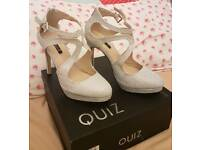 Silver shoes size 5