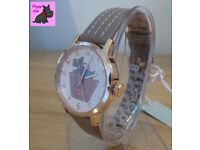 Radley RY2346 Border Rose Gold / Marsupial Leather Strap Watch - NEW - RRP: £80