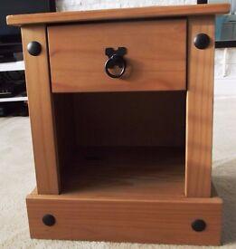 Modern, wooden bedside table.