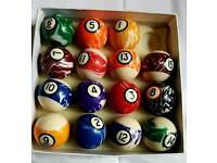 Set Of pool balls and triangle