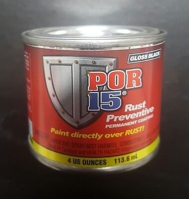 Por 15 Gloss Black 4 Ounce   Paint Over Rust