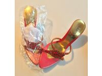 LUV!!! Diamond Bridal / wedding / party shoes, sandals, heels in RED!! QUALITY!! NEW STYLE!!Stunning