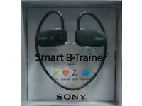 Sony SSE-BTR1B Wireless Smart B-Trainer Headphones Includes Bluetooth GPS HRM 16 GB Black bargain