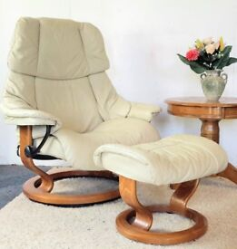 (Available) Stressless Recliner Chair & Footstool 119 ~ Can Deliver
