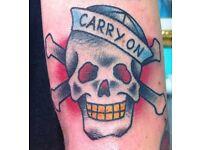 New Tattoo Shop, Great Deals, Custom Tattoos, Flat Fee, Affordable, Fun, Clean, Friendly, ink
