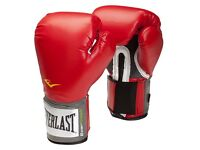 Everlast Men's Velcro Pro Style Training Glove + Quick Wrap Gel Shock Hand Wraps -M/L (Never used)