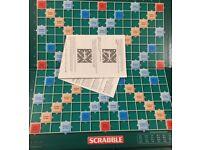 Scrabble Board & Rules (Mattel)