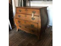 Antique 19th Century Dutch Oak Chest Of Drawers
