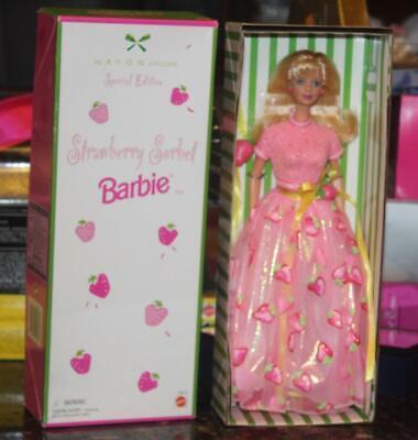 Mattel Avon Representative Barbie Doll Hispanic Blue Suit 1998 Brown Hair NRFB for sale online