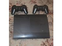 PLAYSTATION 3 with 2 controllers and GTA 5