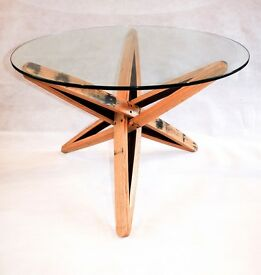 Oak Whisky Barrel Stave Coffee Table