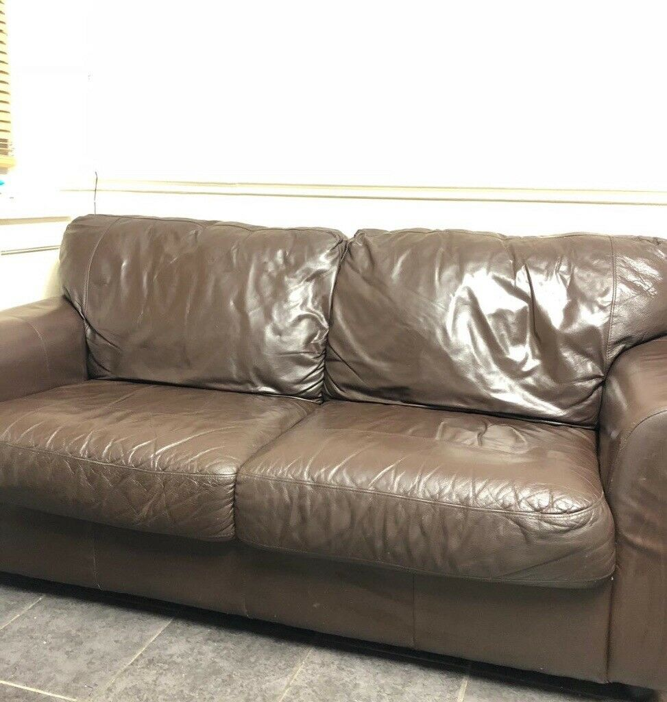 Clean Leather Sofa In Gorton Manchester Gumtree