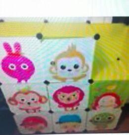 Kids storage box / cube 8 cubes