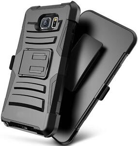 Advanced Armor Protective Case Cover for Samsung Note 5 with Belt Clip and Kickstand