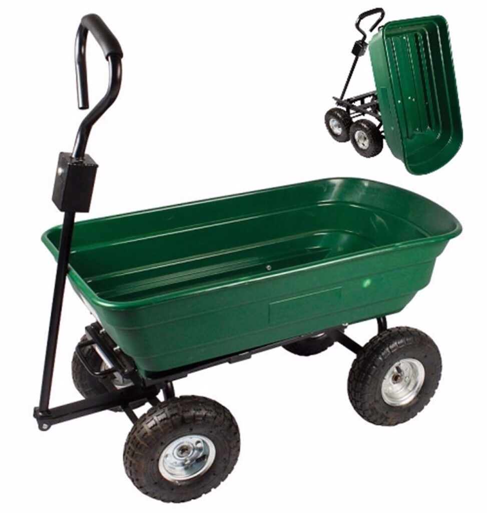 Garden Tipping Trailer Small Trolley Tool Cart Heavy Duty