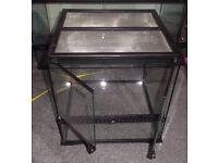 "Exo Terra glass terranium / vivarium ideal home for reptiles and amphibians 45x45x45cm (18""x18""x18"")"