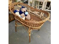 Wicker Moses Basket. CHRISTCHURCH